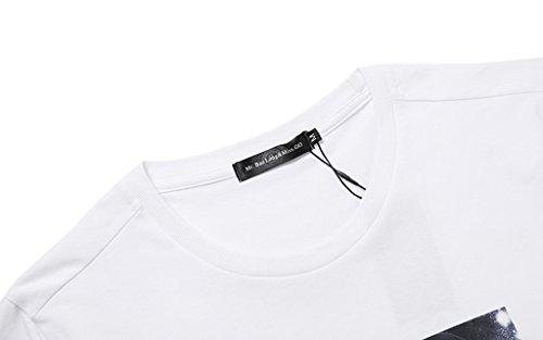 Pizoff Unisex Schmale Passform Baumwolle T Shirts mit 3D Digital Print Muster Y1780-08