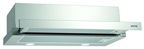 Gorenje BHP 623 E11X Flachschirmhaube / 60 cm / Ab- oder Umluftbetrieb möglich / Anti-Fingerprint-Beschichtung, edelstahl