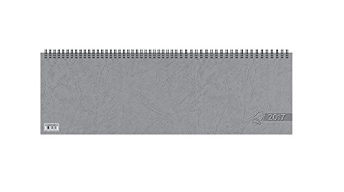 Baier & Schneider Querkalender Querterminbuch, 1 Woche auf 2 Seiten, 420 x 137 mm, Karton, grau