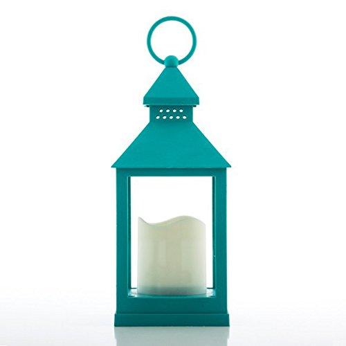 Eurowebb - Laterne mit LED-Kerze - Original-Lampe für draußen und drinnen, Farbe: pistaziengrün -