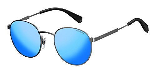 Polaroid Unisex-Erwachsene PLD 2053/S 5X 6LB Sonnenbrille, Grau (Ruthenium Grey Speckled Blue Pz), 51