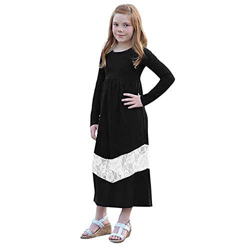 Quaan 2-7T Mama & Mich Kinder Mädchen Lange Ärmel Kleid Beiläufig Familie Kleider warm gemütlich Baumwolle Kleiner Anzug Outwear Weste Windjacke Mantel Outwear Weste Mantel Jacke