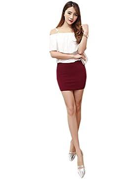 ea75389e49 KINDOYO Nueva moda falda lápiz mujer talla grande falda corta de cintura  alta