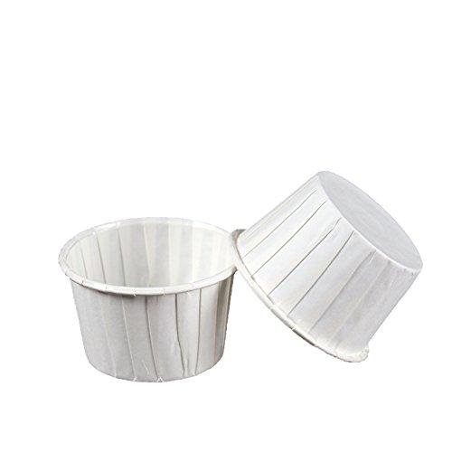 Beiersi 50Pcs Papier Kuchen Tasse Cupcake Fällen Liner Muffin Hohe Temperaturbeständige Backen Tassen (Weiß)