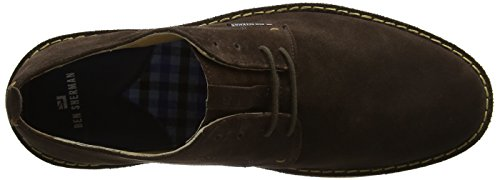 Ben Sherman Mocam Low, Scarpe Stringate Uomo Marrone (Cow Suede Chocolate)