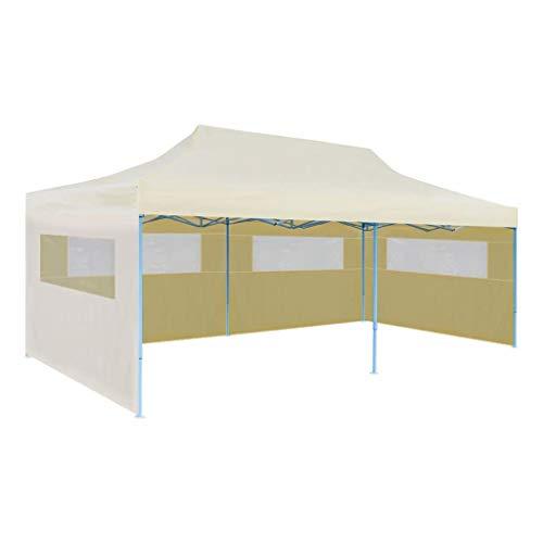 Vidaxl tenda per feste pop-up pieghevole impermeabile crema tendone gazebo