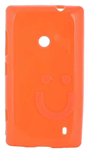 iCandy™ Imported Quality Soft TPU Smiley Back Cover For Nokia Lumia 520 / Lumia 525 - Fanta  available at amazon for Rs.160
