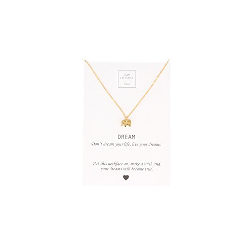LUUK-LIFESTYLE-Damen-Schmuck-Halskette-mit-Elefanten-Anhnger-und-Dream-Spruchkarte-Glcksbringer-gold-ros-silber