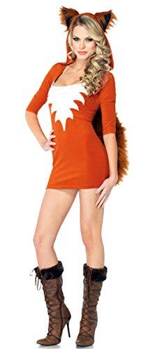 Kostüm Orange Katze - Cloud Kids Damen Katze Kostüm Halloween Cosplay Verkleidung mit Schwanz Tier für Karneval Fasching Orange Brust 80-88cm