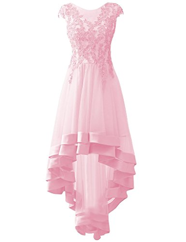 HUINI Applikationen High Low Tulle Prom Partei Kleider Korn Abend ...