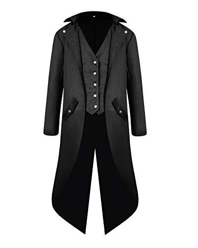 Frauen Tuxedo Gothic Frack Jacke Steampunk Viktorianischen Mantel Hochzeit Uniform Schwarz S
