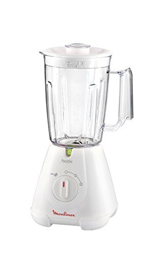 Moulinex Faciclic - Batidora de vaso, 400 W, 2 velocidades, jarra plas