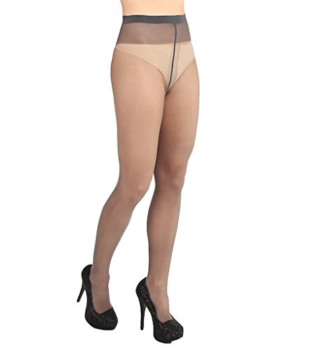 Wolford Individual, Collant Donna, 10 DEN steel