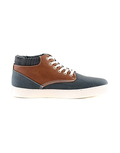 ZY Chaussure Basket Montante Homme ZY Y001 Bleu