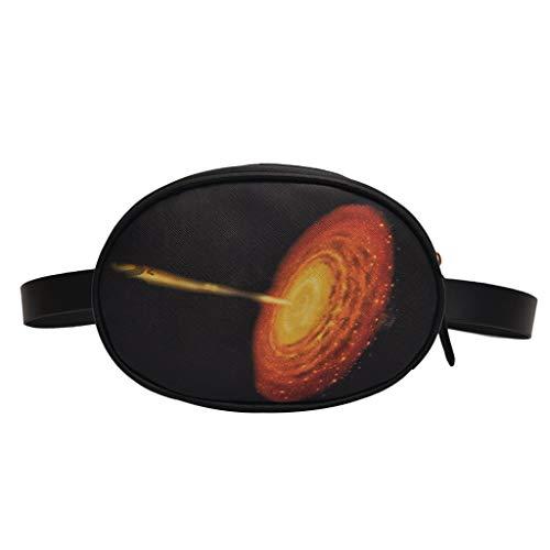 Ledertasche, Schultertasche, Geschenk, Handgefertigte Tasche,Frauen Sternenmuster Reißverschluss Umhängetasche Brusttasche Neuheit Mode Hüfttasche ()
