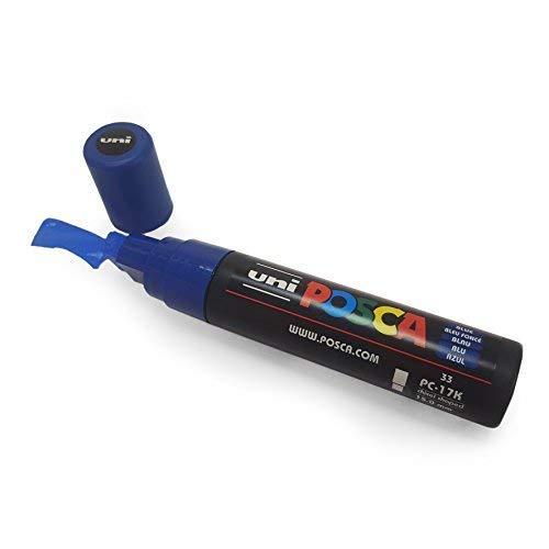 Uni-Ball, pennarello Posca, pc-17K, XXL con punta a scalpello per grandi ambienti, 1 pennarello Blue
