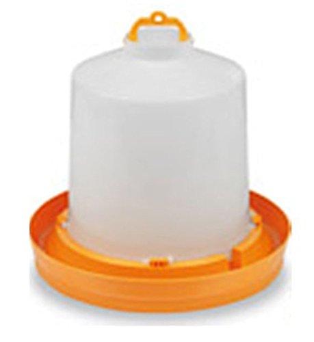 Abreuvoir plastique orange avec bouchon et anse 8,5L