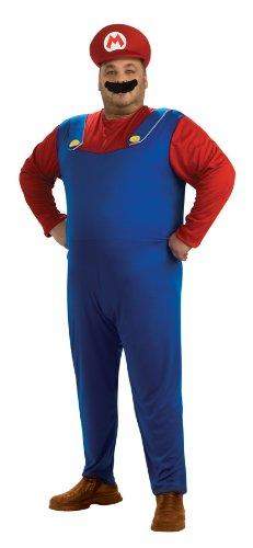 Original Lizenz Super Mario Brothers Bros. Kostüm Herrenkostüm Mariokostüm Brother Klemptner Kostüm für Herren Gr. XL