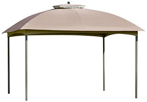 greemotion Pavillon de jardin Mailand – Barnum professionnel 3x4 m – Tente de réception couleur marron élégante et robuste - Résistante aux UV50+