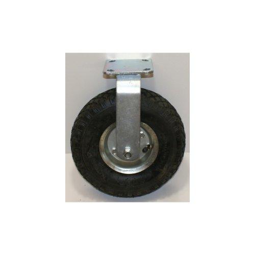 Bockkrolle Rad 260 mm 100 kg Belastung. Bereifung Gummireifen luftgefüllt. Luftrad mit stabiler Stahlfelge und robustem Stahlgehäuse verzinkt. Für Anhänger, Karren usw, luftbereift mit Ventil - Eine Leichte Federung Anhänger