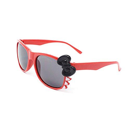 Ultra® rot mit schwarzen Bogen süß Multi Color Kostüm spielen Cos spielen 3D-Brille für Kinder Objektiv Hase Herz Bogen Frames verfügbar