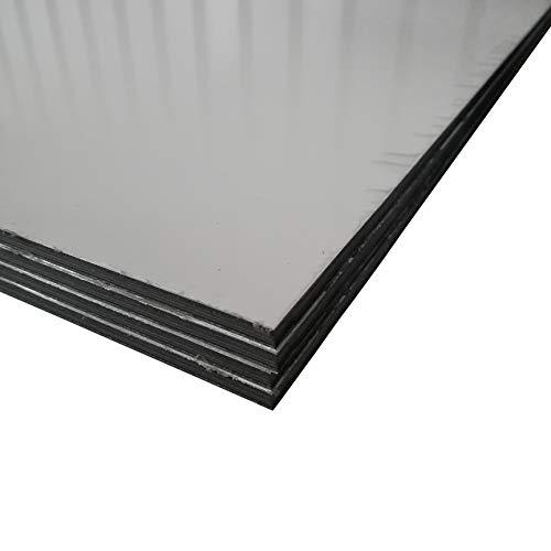 Alu-Verbundplatten Aluverbundplatte in verschiedenen Größen Weiss 6 mm stark Sandwich Platte (500x500mm)