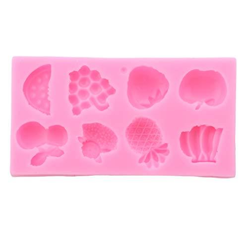 Obst Banane Muster Kuchen Dekoration Diy Silikon Fondantform Kuchen Dekorieren Hochzeit Backformen Backen Werkzeug(Pink) ()