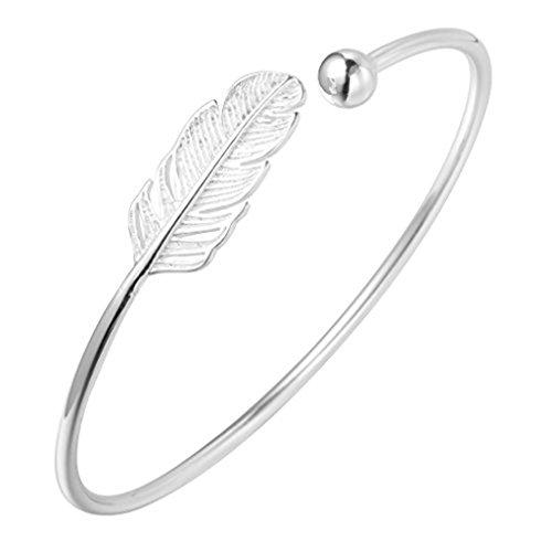 Superbe Argent sterling 925Feuille infinity Boho Cuff Bracelets et bracelets Accessoires pour filles Femme Cadeau Bijoux tendance