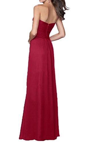Victory bridal glamour une épaule abendkleider long tuell brautjungfernkleider prom/ballkleider partykleider Rouge - Rouge bordeaux