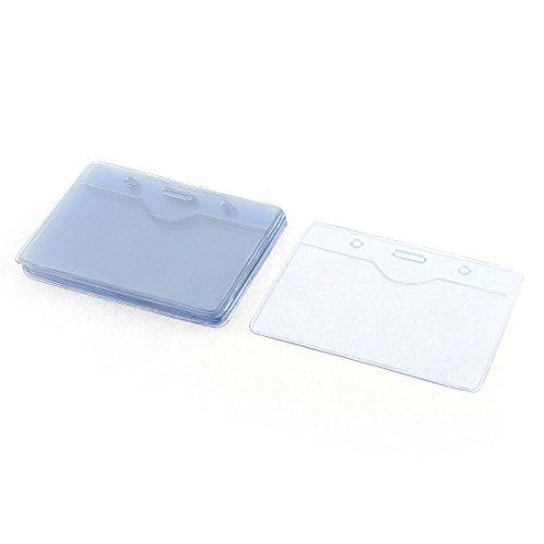 De plástico blando horizontal insignia de bolsillo ID Card Holder 90mm x 54mm 10 piezas