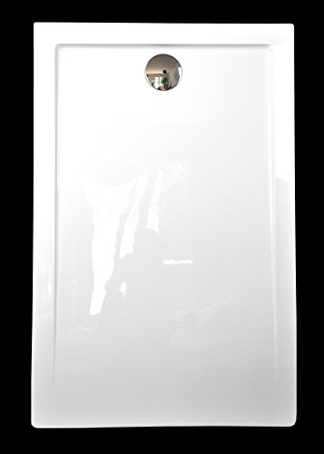 duschwanne 140 Art-of-Baan® - Extra flache Duschtasse, Duschwanne aus Acryl, glatt Weiß Hochglanz; 140x80x3,5cm inkl. Ablaufgarnitur