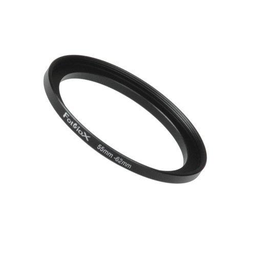 Fotodiox Step Up Ring Metall eloxiert Schwarz, Keine, schwarz, 55-62 mm Klar-adapter