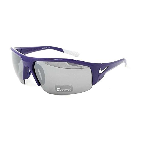 Nike Skylon Ace XV Sunglasses - EV0857 PURPLE WHITE GREY W SILVER FLASH image