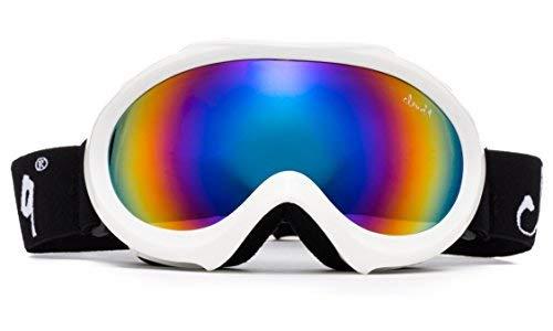 Cloud 9 Goggles Unisex-Kind 9 Wolke - Schneebrille Anti-Fog-Snowboard Ski Schutzbrille Weiß