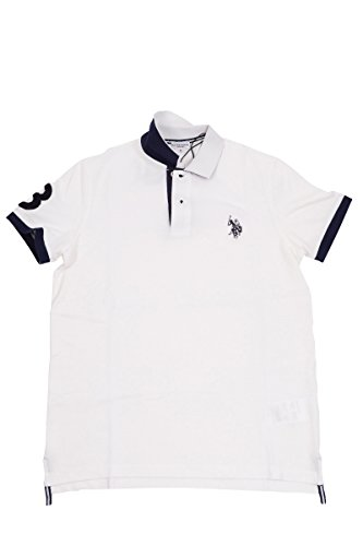 U.S.POLO ASSN. Herren Poloshirt Bianco