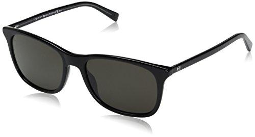 Tommy hilfiger th 1449/s nr a5x 54 occhiali da sole, nero (black brw grey), uomo
