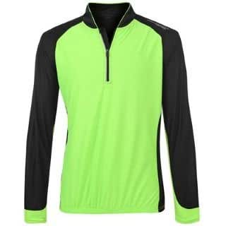 Muddyfox Long Sleeve Cycling Shirt Mens Black/Green Medium