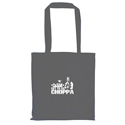 TEXLAB - Arnold: Get to da Choppa - Stoffbeutel, (Kostüm Internet Party Meme)