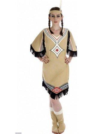 Imagen de ladies  disfraz de india para mujer, talla m 36  38  fs2295 m