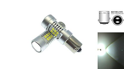 Preisvergleich Produktbild TMT LEDs (TM) 2x Canbus LED 1157BAY15D P21/5W 21LEDs SMD 2835Weiß 800lumenes Hochglanz Standlicht Bremse Lichter Tagfahrlicht DRL Autos Motorräder