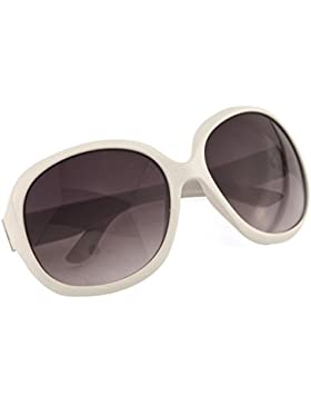 Oath_song - Gafas de sol Mujer, cristales con Gradiente, diseño grande (64mm) multicolor blanco