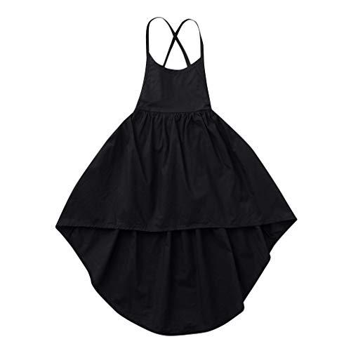 Yanhoo-Kinder Kleinkind Baby Mädchen Kleid Spitze Rüschen Kleider Ärmellos Taste Hohl Prinzessin Sommerkleid Urlaub Outfit Kleidung
