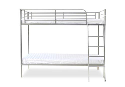 Humza Amani Torquay Metal Bunk Bed Frame - Single, Silver