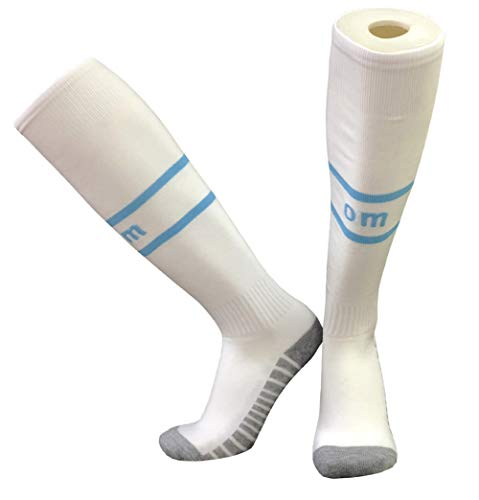 RJBGYP Fußballsocken Sportsocken Polyester Four Seasons Long Tube Atmungsaktive Geruchsverdickung, geeignet für Sport, Radfahren, Wandern, Fußball, Laufen, Zuhause in Marseille
