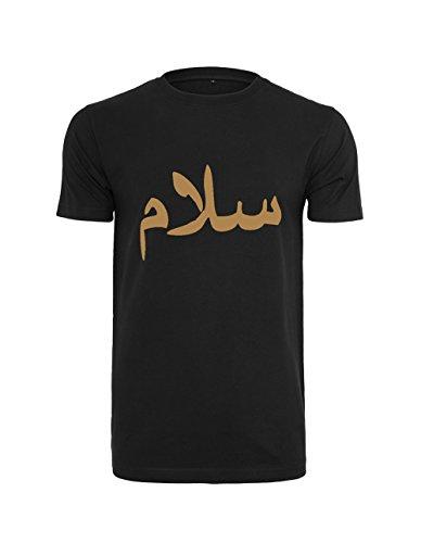 AHAD THE ONE Salam, Peace T-Shirt mit Arabische Kaligraphie Islam-T-Shirt: Muslimische Kleidung für Damen und Herren Bedrucktes Motiv Muslim Fashion (Medium, Grey)