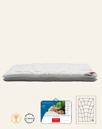 Hefel Klima Control Comfort Ganzjahresbettdecke 135x200 cm
