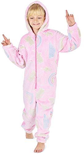 56ceca1a14d Pijama Unicornio Niña Onesie Pijamas Niñas Entero Brilla en la Oscuridad  Glow in The Dark 3