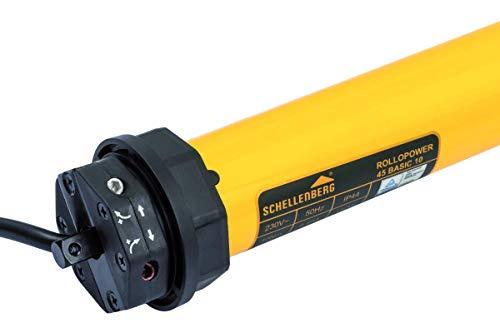 Schellenberg 20223 Rolladenmotor Action für 60 mm Stahlrohrwellen für bis zu 4 m² Fläche, SW 60, Rolladenantrieb