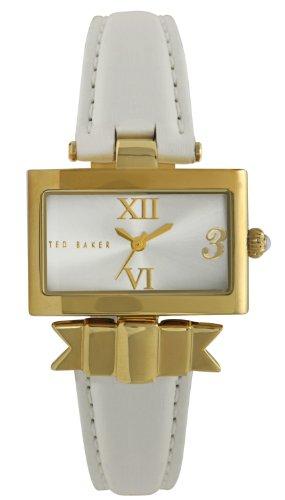 Ted Baker TE2077 - Reloj analógico de cuarzo para mujer con correa de piel, color blanco
