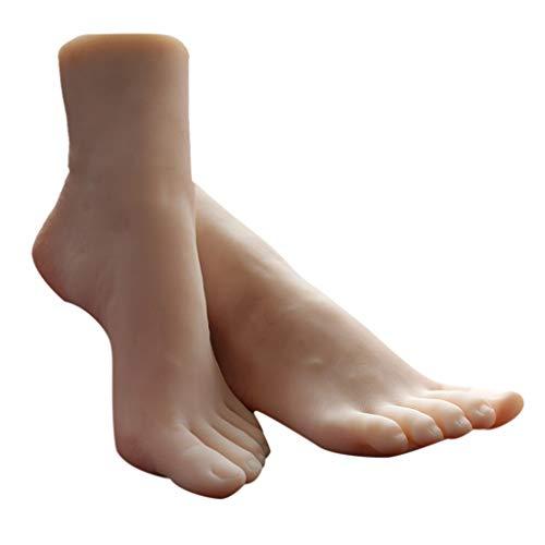 B Blesiya 1 Paar Nailart Übungsfuß Nageldesign Training Fuß Nagelkunst Praxis Künstliche Fuß, Schaufensterpuppe Display Anzeigen Fuß